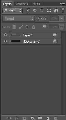 photoshop locked layers example