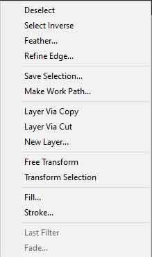 photoshop selection options