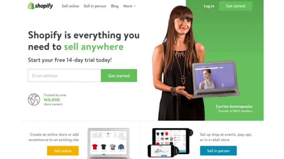 shopify website template
