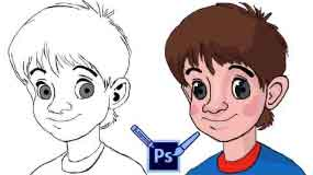 Pencil Tool vs Brush Tool Photoshop | Sketching And Painting Anime Character