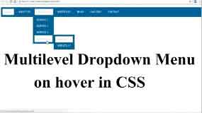 how to create multilevel dropdown menu in css?