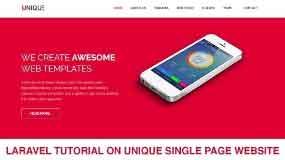 laravel tutorial single page website part 2