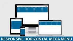Responsive Horizontal Mega Menu With HTML And CSS