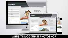 how to replicate a website design in photoshop?