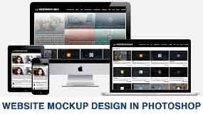 How to make a website mockup in photoshop ?